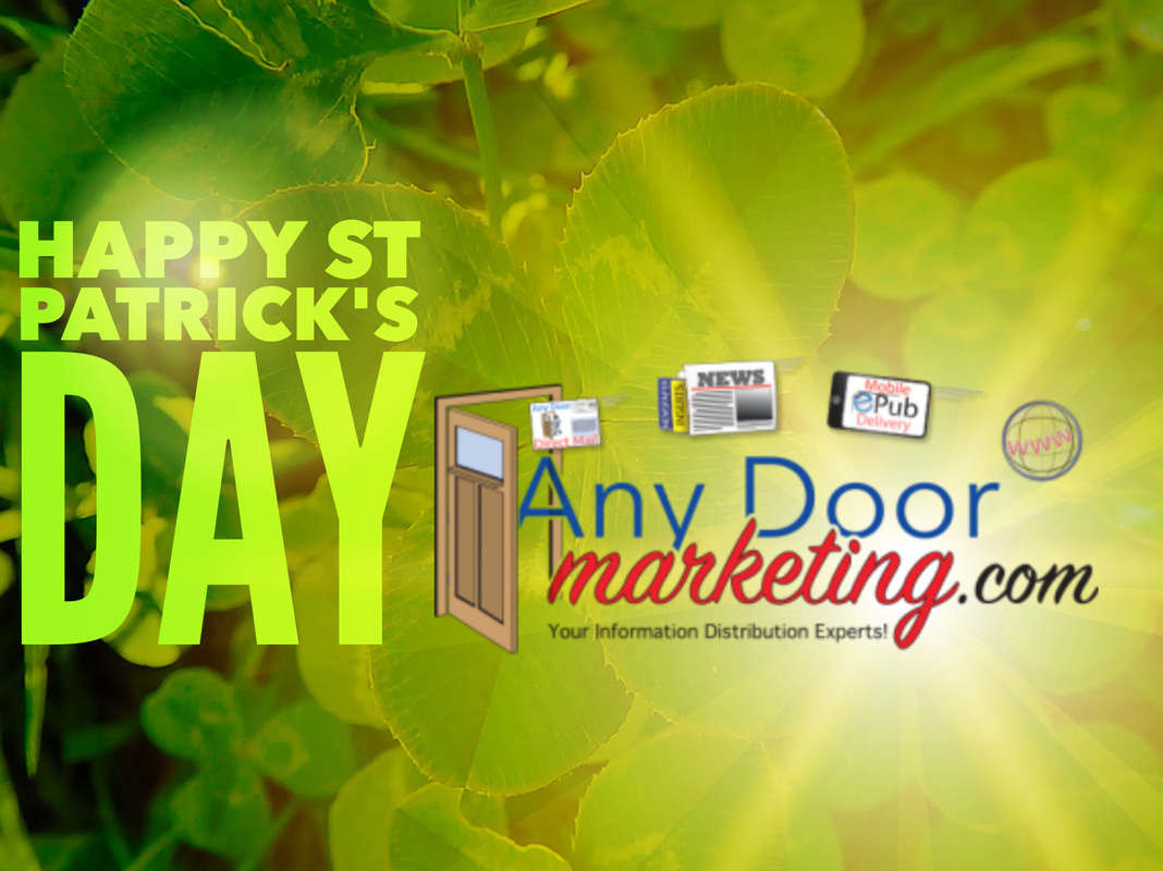 St Patrick's Day Image - Any Door Marketing your Direct Mail Distribution Experts